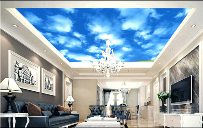 3D Blaue Wolken 764 Fototapeten Wandbild Fototapete BildTapete Familie DE Kyra