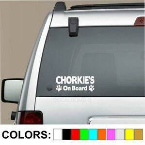 Chorkie-039-s-On-Board-paw-print-decal-sticker-dog-puppy-yorkie-Chihuahua-breed