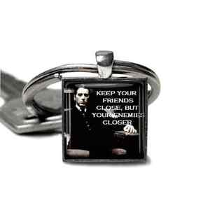 The-Godfather-Keyring-Al-Pacino-Godfather-Keyfob-Mens-silver-plated-unique-gift