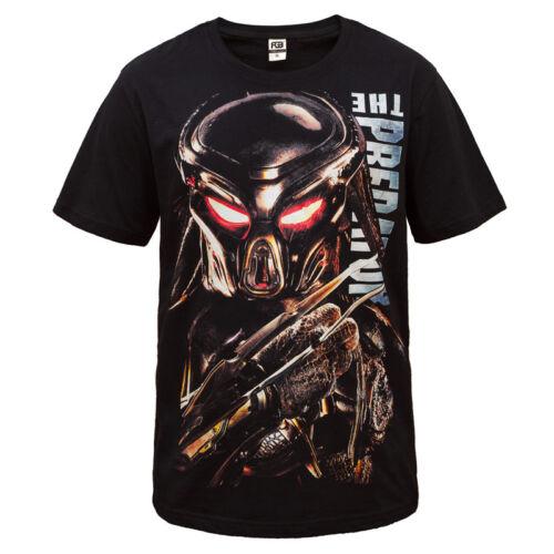 New Black 100/% Cotton Dot Print Short T-Shirts The Predator