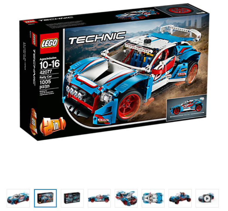 New LEGO 42077 Technic Rally Car