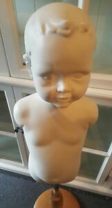White-1920-039-s-Vintage-Styled-Child-Mannequin-On-A-Wooden-Stand