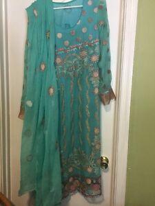 indian pakistan Ethnic Anarkali Shalwar Kameez Designer Suite Bollywood Dress