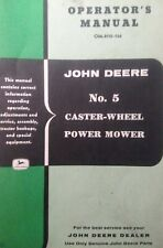 John Deere Ag Farm Tractor No 5 Rear Sickle Bar Mower Implement Owners Manual