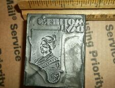 Vintage Solid Lead Mothers Day Cut Foundry Type Letterpress Printing Block