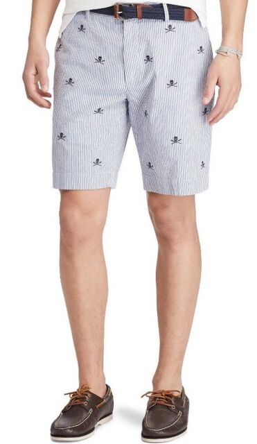 Men\u0027s Polo Ralph Lauren Provinceto Striped Embroidered Skull Short