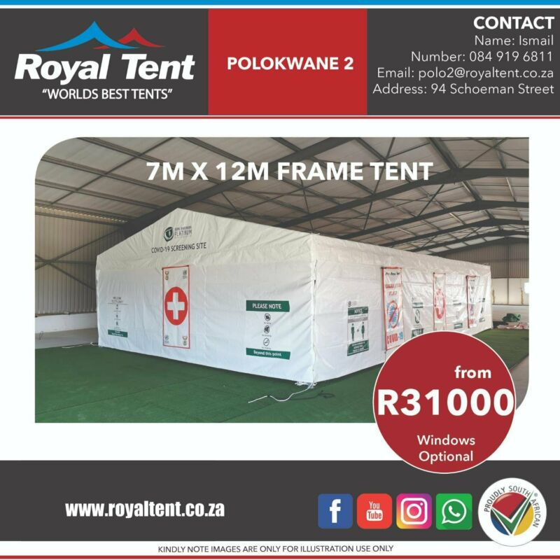 Winter Sale on Frame Tents