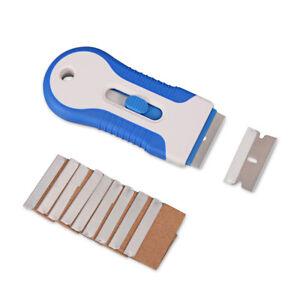 Retractable-Razor-Scraper-10-Blades-1-5-034-Carbon-Steel-Label-Sticker-Removal-Tool