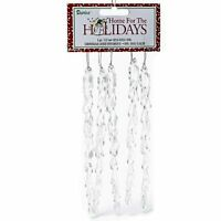 Darice Long Icicle Ornament, 15mm, Clear