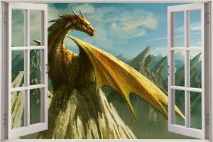 Huge-3D-Window-view-Fairy-tale-Fantasy-Dragon-Wall-Sticker-Film-Decal-572