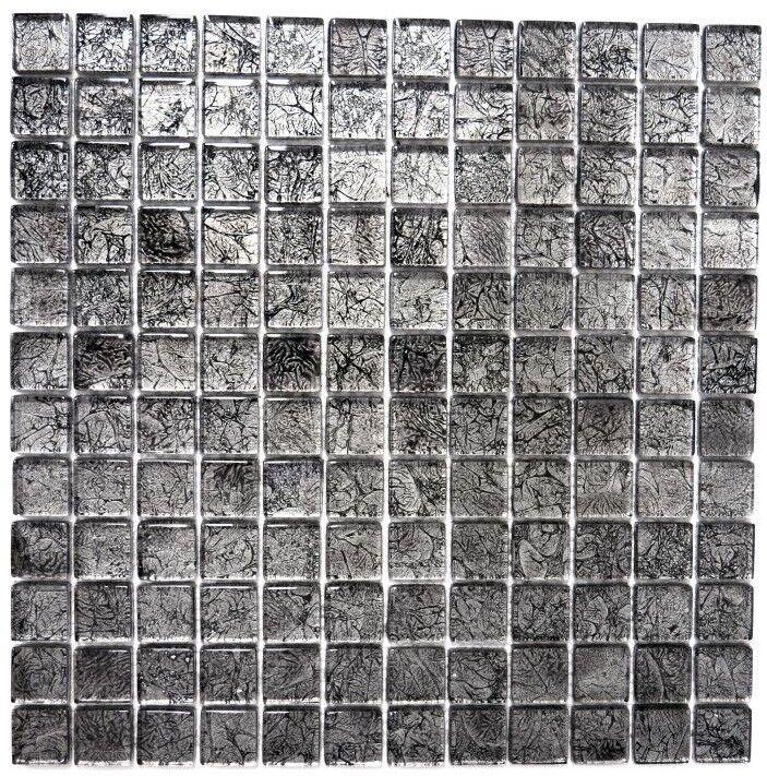 Mosaïque translucide crystal structure noir cuisine mur 126-8BL17_f | 10 plaques