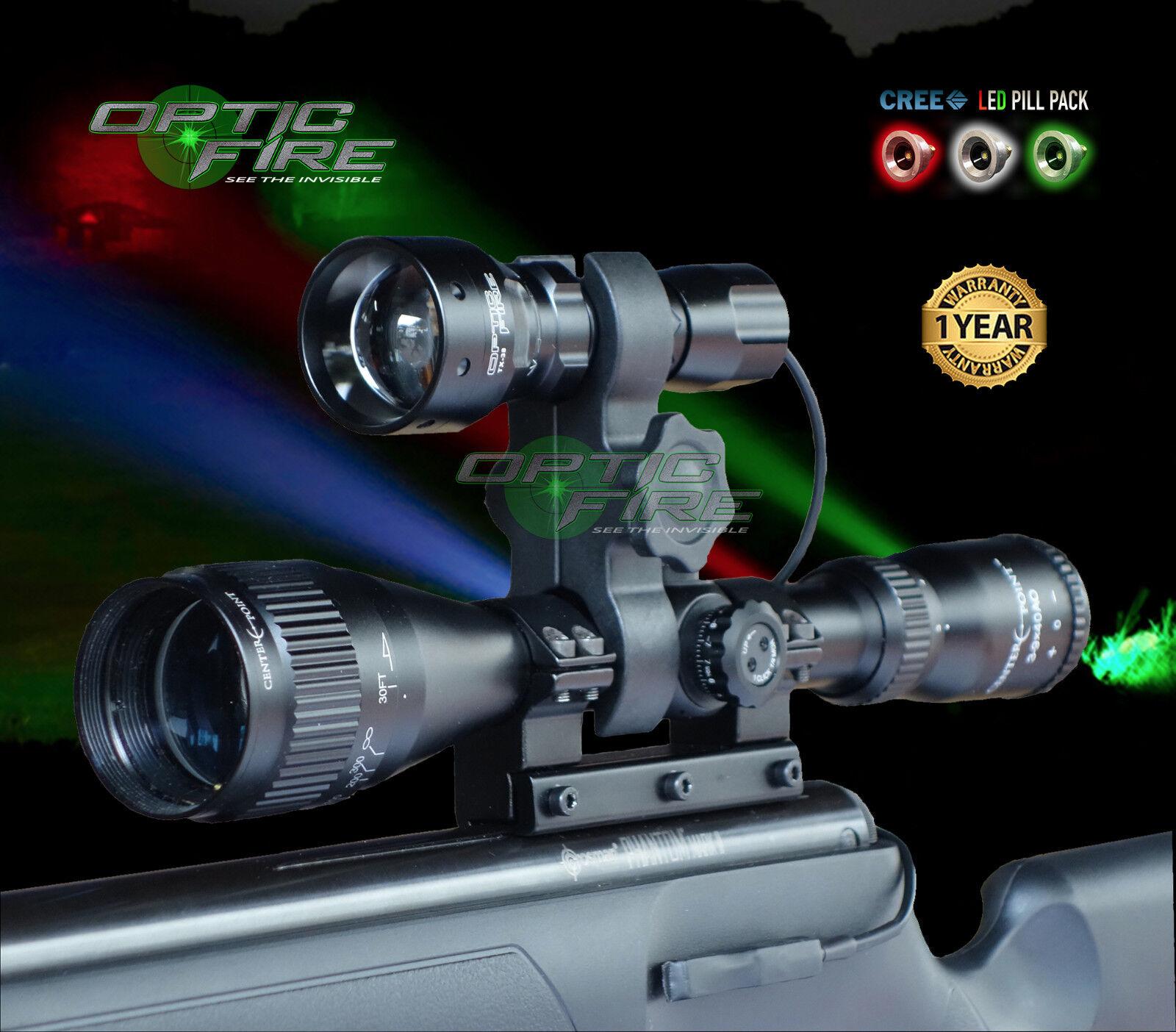 Opticfire® TX-38 T38 LED Deluxe Supreme scope gun light kit hunting torch lamp