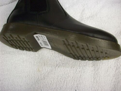 BLACK LEATHER BOYS GIRLS SIZE 2 3 4 5 6 AIR SOLE SLIP ON DEALER CHELSEA BOOTS