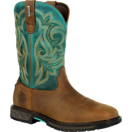 Georgia Boot Carbo-Tec LT Women/'s Steel Toe Waterproof Pull-On Boot