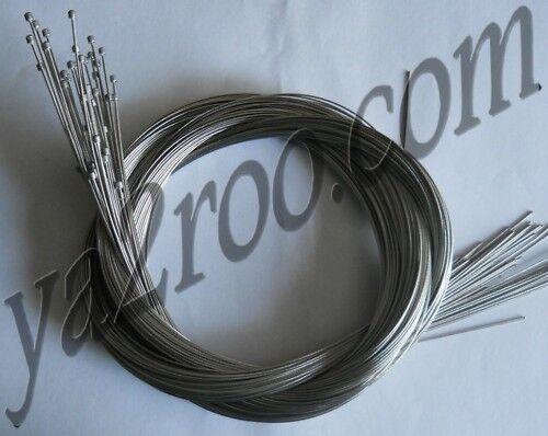 Lot de 100 cables de dérailleur inox 2m30 clark's neuf