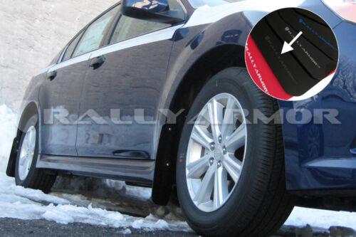 Rally Armor UR Black Mud Flaps Kit w// SILVER Logo for 2010-2014 LEGACY