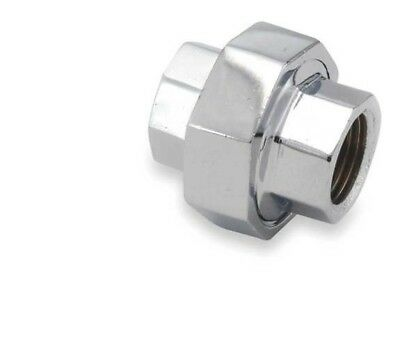 "Polished Chrome-Plated Red Brass Pipe Fitting coupling 1//2/"" female NPT NEW"