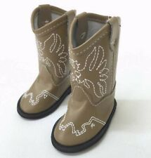 """18/"""" Girl Boy Logan Doll Clothes Tan Western Cowboy Boots fit American Girl Doll"""