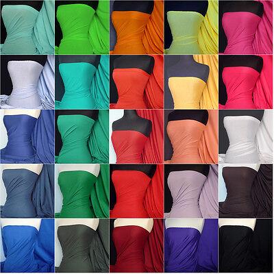 Plain 100% cotton stretch light cotton jersey fabric lightweight material Q1249