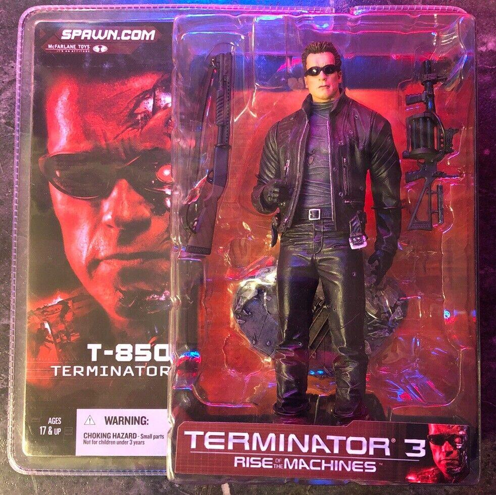T3 Movie T-850 Terminator Action Figure New 2003 Schwarzenegger McFarlane Toys