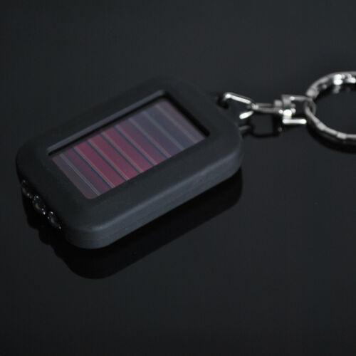1PC Hot Solar Power 3 LED-Licht Schlüsselanhänger Taschenlampe Schwarz·