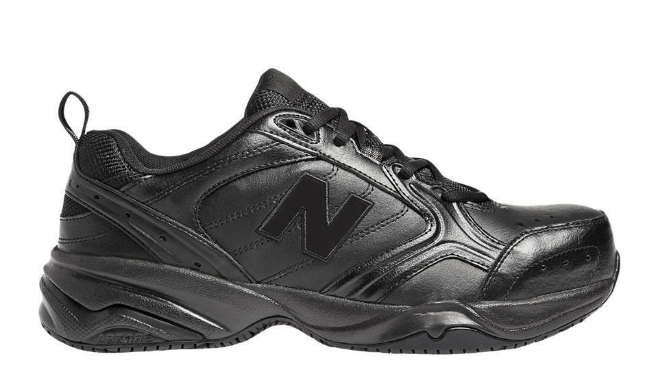 NEW BALANCE 627 STEEL TOE INDUSTRIAL Work shoes Black Leather MENS 4E WIDE Width