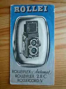 Rollei  - Rolleiflex Automat et rolleiflex 2.8 C Rolleicord V