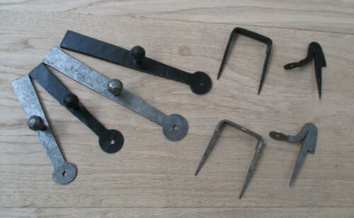 VINTAGE STYLE HAND FORGED BLACKSMITH CUPBOARD GATE DOOR LATCH SET WROUGHT IRON