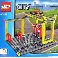 Lego Train Station Cargo Crane & Loading Dock + 2 S-track (city Cargo 60052 B6)