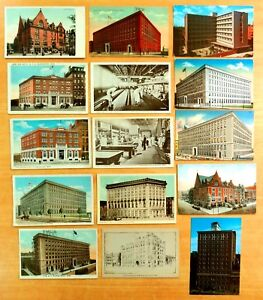 15-Postcards-All-YMCA-Boston-Receiving-Ship-Commonwealth-Pier-Billiards-Bowling
