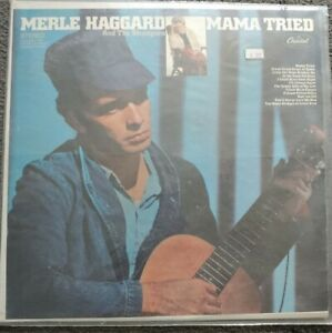 MERLE-HAGGARD-Mama-Tried-LP-Orig-Capitol-Rainbow-ST-2972