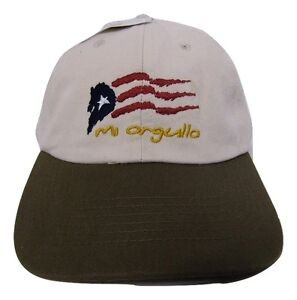 Puerto Rico Mi Orgullo Washed Worn Distressed Embroidered Cap Hat