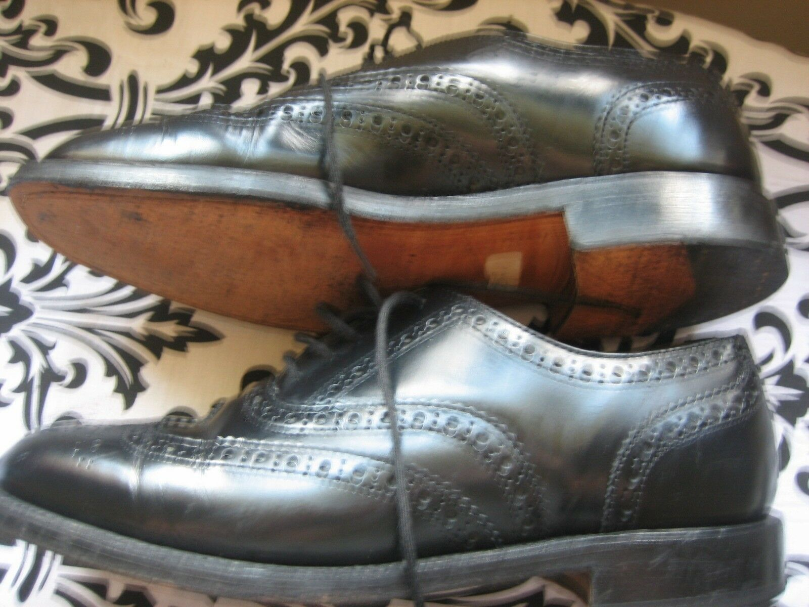 MENS BLACK K BY BY BY ROYAL APPOINTMENT BROGUES SIZE 8 1/2 No G181163 5a8e72