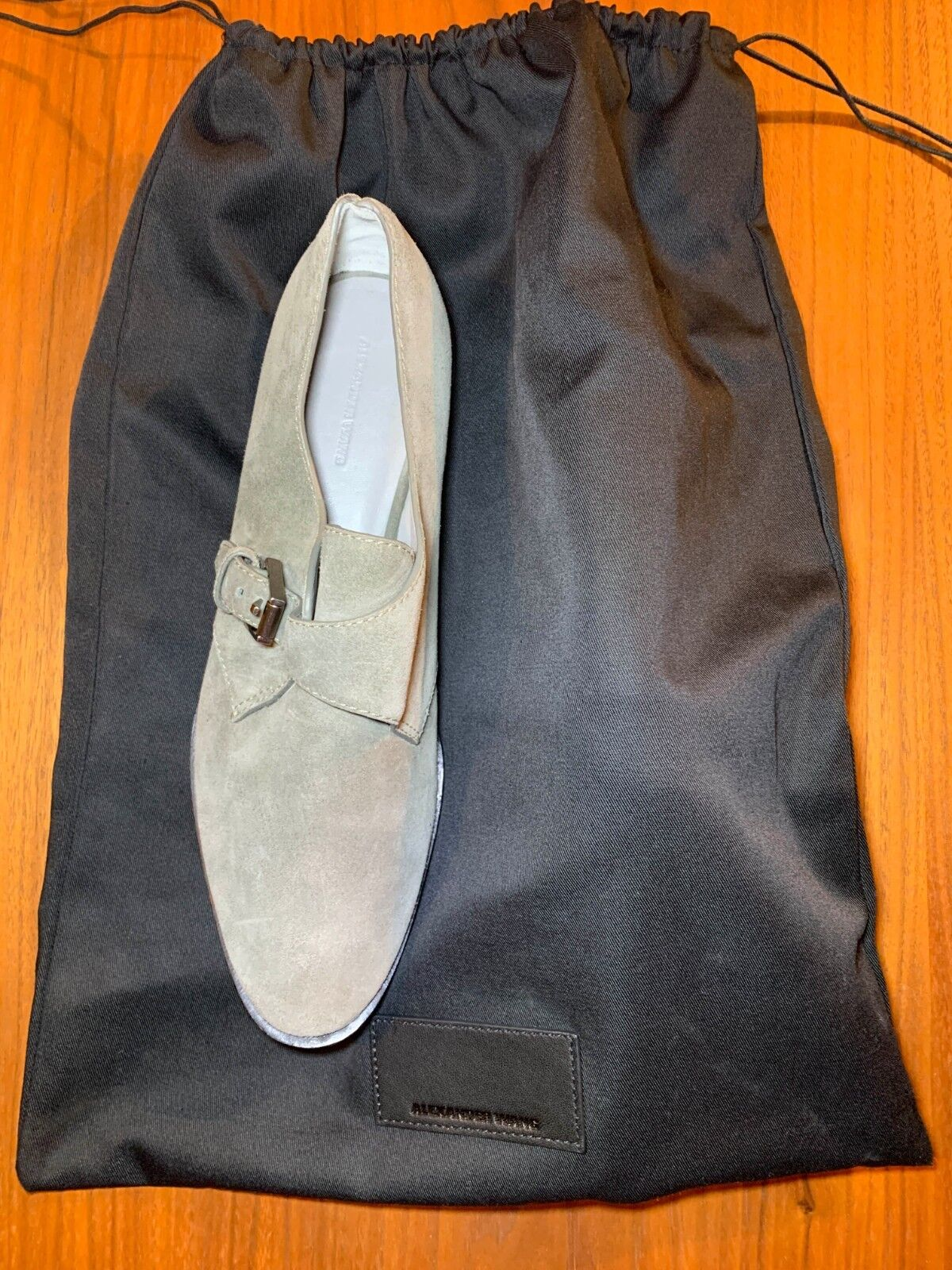 ALEXANDER WANG Monk Strap Oxfords shoes Suede Grey Size Size Size US 11 EU 41 063320