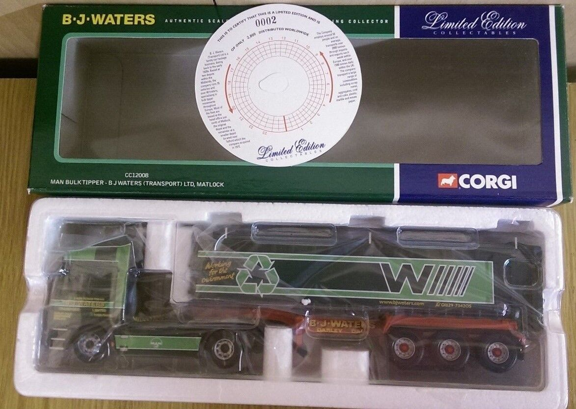 Corgi CC12008 MAN Bulk Tipper B J Waters Transport Ltd Ed. No. 0002 of 2800