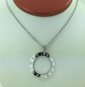 7500 bulgari bvlgari 24 long large 18k white gold diamond necklace image is loading 7500 bulgari bvlgari 24 039 039 long large aloadofball Choice Image