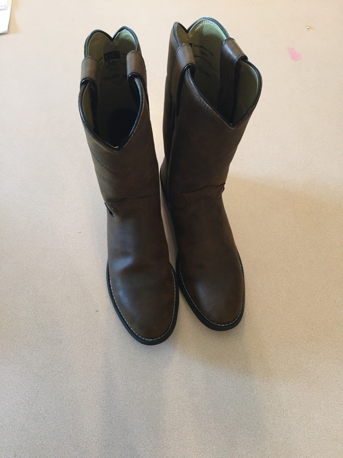 Justin Brown Leather  Boots 6.5 B