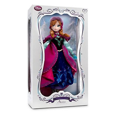 """Disney store snow Gear Nordic ANNA 17"""" doll FROZEN(elsa sis)Limited Edition 5000"""