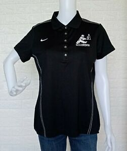 NWT-Nike-Golf-Dri-Fit-Black-Polo-Shirt-Size-Medium-may-fit-to-Large-frame