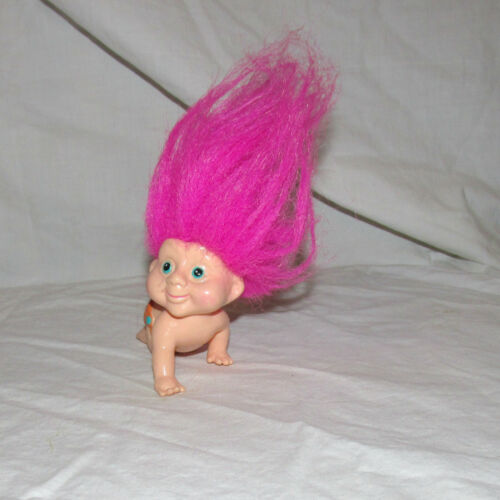 1 BABY APPLAUSE TROLL 1991 Magic BabY NEW OLD STOCK CRAWLING