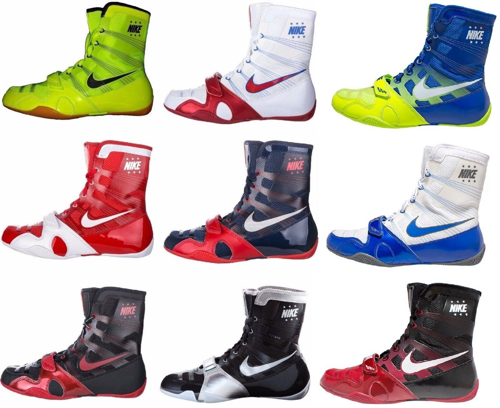 Nike HyperKO Dark Grey Black Volt Boxing Shoes