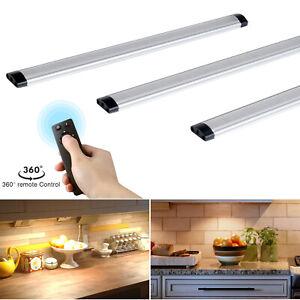 Details About 3 Pack Under Cabinet Lights Led Kitchen Lighting Cupboard Light For Closet Uk