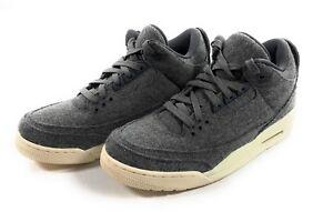 b2c3971b4020 Nike Air Jordan 3 Retro Mens Size 10 Wool Dark Grey Sail 854263-004 ...