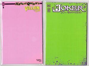 HARLEY-QUINN-1-PINK-JOKER-1-80TH-GREEN-LTD-SKETCH-COVER-VARIANTS-PUNCHLINE