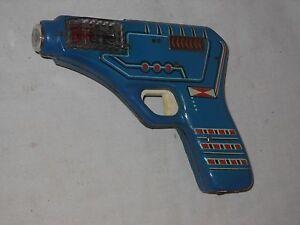 Vintage-Tin-Toy-Space-Gun-Mars-Gun-From-Ites-CSSR-60er-J-Functional