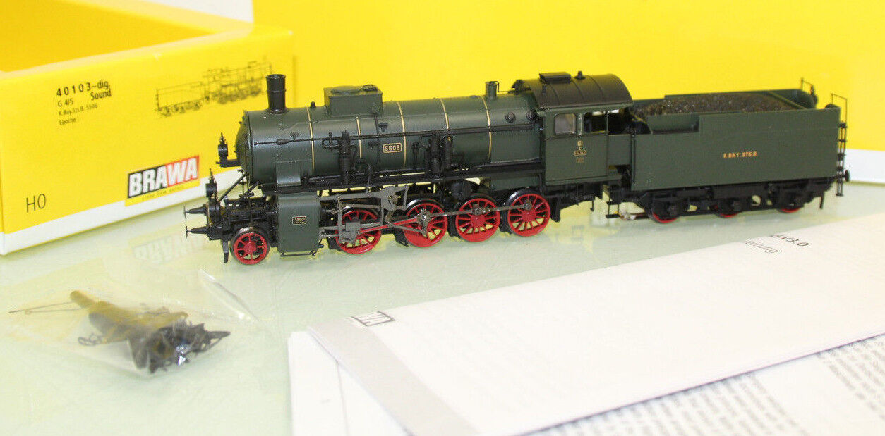 barato Brawa h0 40103 ac ac ac máquina de vapor g 4 5 K. Bay. STS. digital + Sound como nuevo + embalaje original (sl5287)  Web oficial