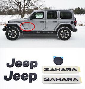 5 X 2018 2020 Jeep Wrangler Jl Sahara Black Emblem Jeep Fender
