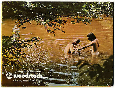 WOODSTOCK 1970 Film Programme & Super rare LP promo insert Near Mint condition