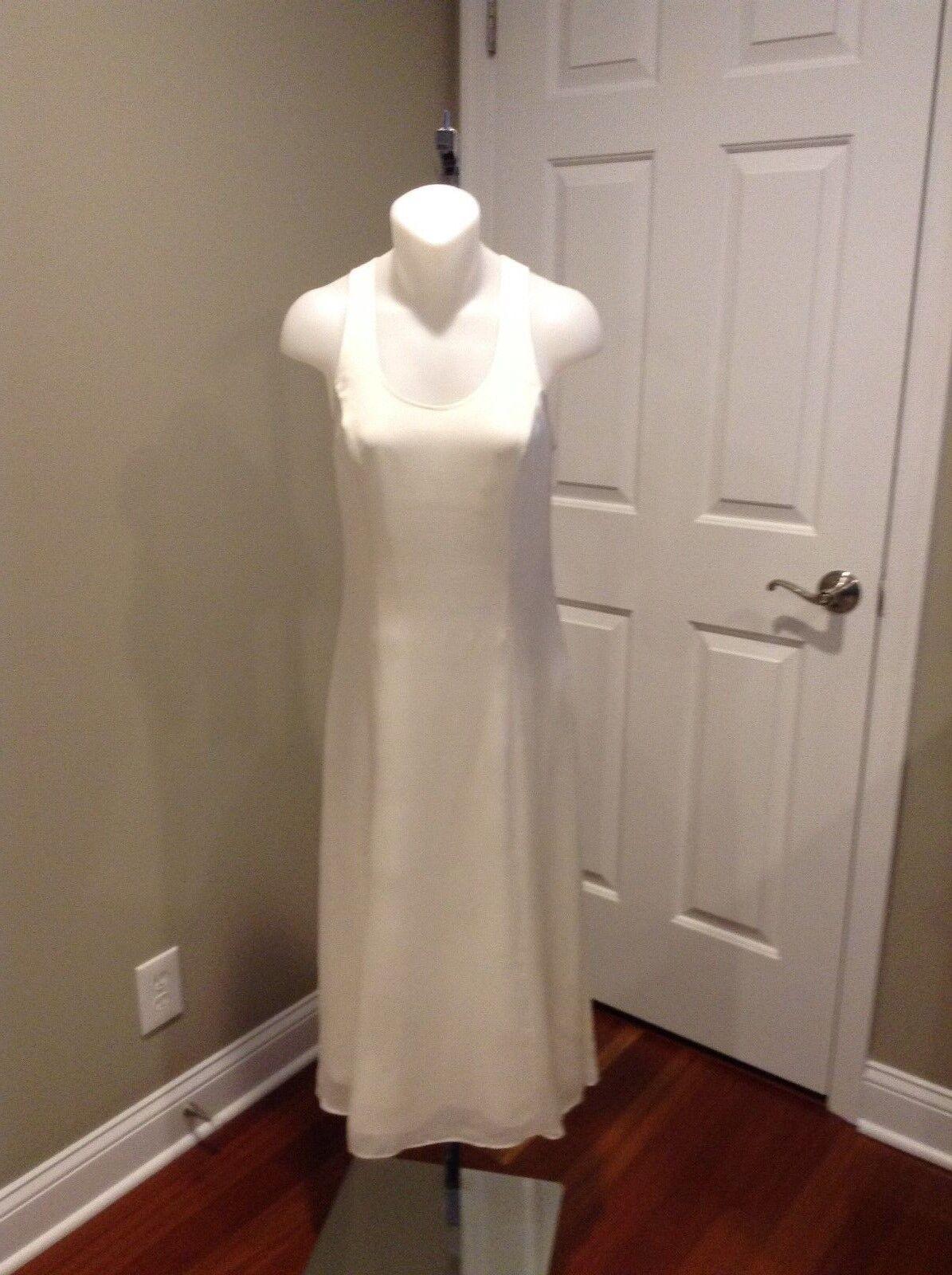 T by Alexander Wang White Silk Tank Dress Size 0