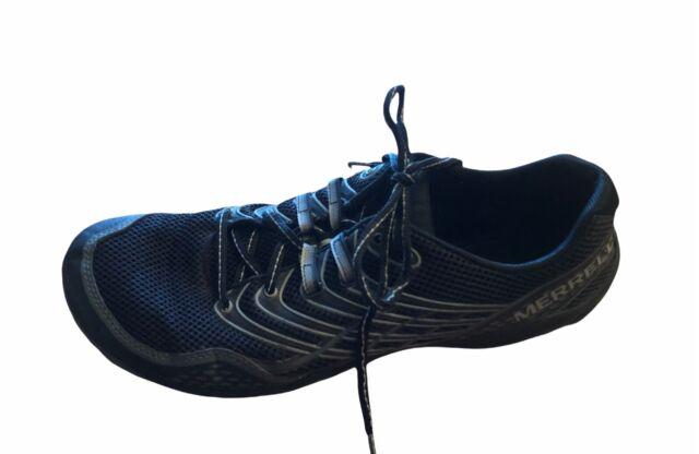 Merrell Mens Trail Glove 3 Black Grey 10M 44 barefoot shoes sneakers tennis shoe